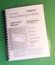 Laser Printed Olympus 1030 Sw Stylus 1030 Sw Camera 84 Page Owners Manual Guide
