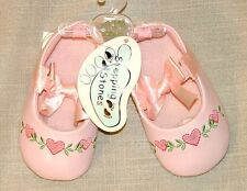 New Stepping Stones pink crib shoes girls 9-12 m