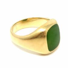 NYJEWEL Tiffany & Co 14k Yellow Gold Jade Ring
