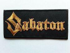 SABATON SWEDISH HEAVY METAL PUNK ROCK MUSIC BAND EMBROIDERED PATCH UK SELLER