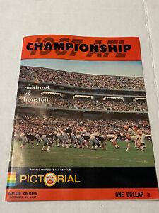 1967 AFL CHAMPIONSHIP OAKLAND RAIDERS vs HOUSTON OILERS FOOTBALL PROGRAM