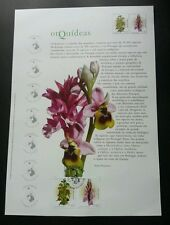 Portugal Orchid 2003 Flower Flora Plant (stamp on info sheet) *rare