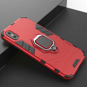 For iPhone 12 11 Pro Max SE 2020 XS 7 8 Ring Holder Hybrid Case Hard Armor Cover