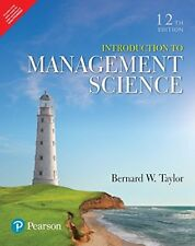 New:Introduction to Management Science by Bernard W., III Taylor  12ed INTL ED