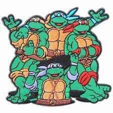 Teenage Mutant Ninja Turtles Team Cartoon Kids Children Sew Iron-On Patch #0258