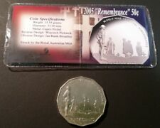 AUSTRALIA • 50c • 2005 • Remembrance • aUnc./Unc. in private company packaging
