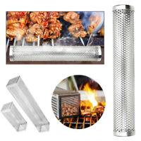 Smoker Wood Pellet BBQ Grill Hot Cold Smoke Generator Smoking Mesh Tube Exotic