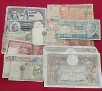 lote de billetes del mundo extranjeros y españoles