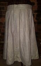 Size UK 12 14 Vintage VTG 1970's 70's Grey Wool Style Retro Full Swing Skirt