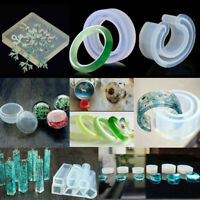 DIY Resin Casting Craft Mold Set Silicone Making Jewelry Ring Pendant Mould Kits