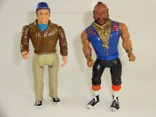 Lot of 2 Vintage 1983 Cannell A-Team Action Figures Mr. T B.A. Baracus & Murdock