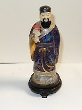 Small Chinese Cloisonne Enamel Man Statue