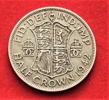 GB 1942 Half Crown Coin. 0.5 Silver. Good Circulated Condition (C-121)