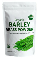 Organic Barley Grass Powder,Green Vegan Superfood Resealable Pouch 4,8,16 oz,1lb