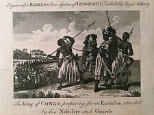 The King of CONGO preparing for an Excursion - acquaforte  1780 London by Bankes