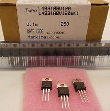 2 Stück/ 2 pieces L4931ABV120 VERY LOW DROP VOLTAGE REG. TO-220 12V+/-1% NEU NEW