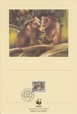 (Eo54) 1988 Wwf (D) official proof card bears &stamp