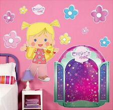 "CHLOE'S CLOSET giant wall stickers MURAL 11 decal room decor 28""x30"" flower logo"