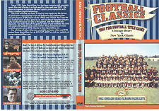 1963 NFL TITLE GAME at Wrigley Field, CHICAGO BEARS DVD
