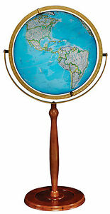 "Replogle Chamberlin Illuminated National Geographic World Globe 16"" Blue. New!"