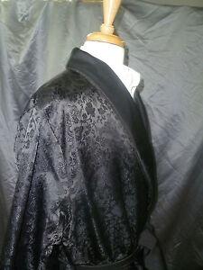 Mens Smoking Jacket - Chinese Silk Style - Short Robe - Full lined