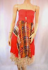 Robe / Jupe PANACHER Dos Nu Rouge dentelle T UNIQUE = 36 38 40 S M L NEUF dress