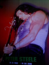PETER STEELE TRIBUTE  POSTER Format 41 x 59 cm TYPE O NEGATIVE TOP