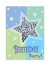 Amscan 8 Pack RAZZLE DAZZLE Shaker Happy Birthday Party Invitations & Envelopes