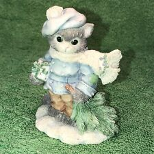 "Enesco Calico Kittens ""Oh Tannenbaum� Cat Figurine 144428"