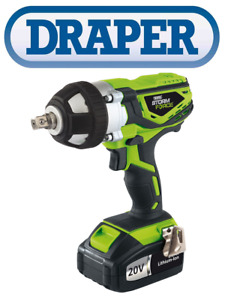 """Draper 01031 Storm Force 20v Cordless 1/2"""" Impact Wrench Gun FAST AND FREE"""