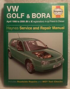 Haynes Manual VW GOLF & BORA April 1998-2000 R to X reg 4-cyl Mk IV UNUSED VGC+