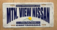 MOUNTAIN VIEW NISSAN DEALER FRONT BOOSTER LICENSE PLATE CHATTANOOGA TENNESSEE TN