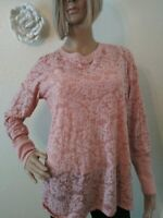 Maurices Long Sleeve Pink Burnout Top Size 0