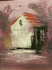 Oil painting Original  Canvas House in the woods   25cm*20cm