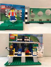 Lego #3403 #3412 Football Soccer Set: Fans Grandstand Shooting Soccer Complete