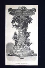 Trionfo da tavola Incisione del 1875