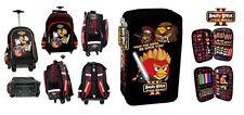 zaino Trolley Angry Birds + Astuccio accessoriato scuola, originale Rovio NUOVO