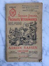 Plaquette Catalogue Fabrique spéciale de Produits vétérinaires Adrien Sassin1959
