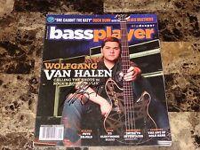 Wolfgang Van Halen Signed Bass Guitar Player Magazine VH Logo Mark Tremonti COA