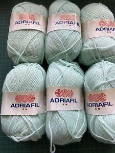 6 Balls Adriafil Mirage Mint Green 50g Double Knitting Wool