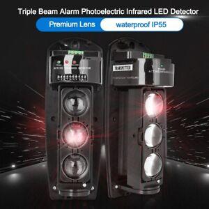 Triple Beam Infrared Alarm Detector Home Safety Burglar Anti-theft Alarm System