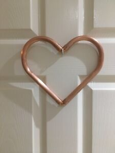 Individually Handcrafted 15mm Copper Pipe Heart. Ideal Wedding Anniversary Gift.
