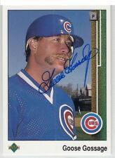 Goose Gossage 1989 Upper Deck Chicago Cubs Hall of Fame  SIGNED AUTOGRAPHED CARD