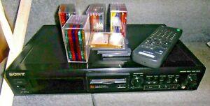 Sony MDS-JE510 MiniDisc Deck  with remote extras