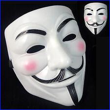 Anonymous V per Vendetta Guy Fawkes Costume Halloween Maschera UK Venditore