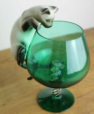 More details for vintage cat and mouse in a glass siamese pussycat pussy