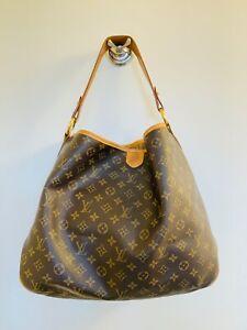 Louis Vuitton Delightful PM Monogram Canvas Shoulder Tote Bag 100% AUTHENTIC