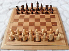 Folding Wooden Chess Set With Felt Lining and Wooden Pieces