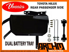 VONNIES TOYOTA HILUX PASSENGER REAR DUAL BATTERY TRAY SYSTEM | 03/2005-06/2015