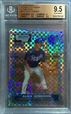 2006 BOWMAN - ALEX GORDON - KC ROYALS - (2) BGS 1ST BOWMAN CHROME & (1) AUTO LOT